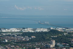 An zweiter Stelle Penang-Brücke Stockbilder