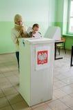 An zweiter Stelle um von den Kommunalwahlen in Polen Lizenzfreies Stockfoto