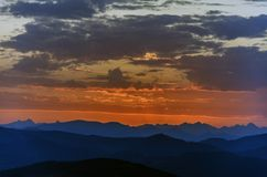 An zweiter Stelle vor Sonnenaufgang Lizenzfreie Stockfotos