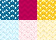 An zweiter Stelle Zigper-Farbmuster lizenzfreie stockbilder