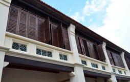 Zweiter Stock des Penang-Erbhauses Stockfotografie