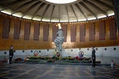 Zweiter Weltkrieg Erinnerungsobelisk auf Mamayev Kurgan Stockfotografie