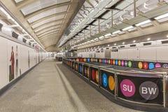 Zweites Alleen-U-Bahn-Zusammentreffen Stockfotografie