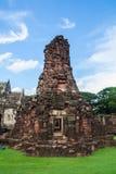 Zweites Steinschloss historischen Parks Phimai Stockfotografie