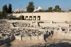 Zweites Tempel-Modell von Jerusalem stockfoto