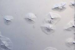 Zwelling die op aluminiumblad roest Stock Foto