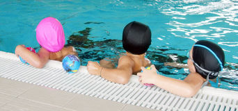 Zwem klasse Stock Foto's