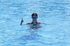Zwem meisje Royalty-vrije Stock Afbeelding