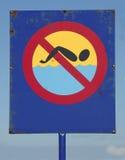 Zwem niet Royalty-vrije Stock Afbeeldingen
