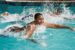 Zwem om te winnen Stock Afbeeldingen