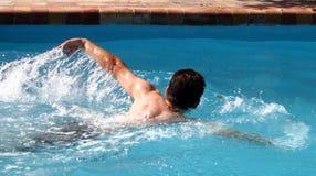 Zwem praktijk Stock Foto