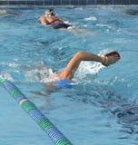 Zwem Praktijk Stock Foto's