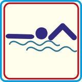 Zwem symbool voor download De vectorpictogrammen drukken projecten Royalty-vrije Stock Foto