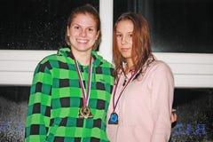 Zwem vergadering Jovanca Micic 2012 Stock Fotografie