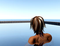 Zwembad 8 royalty-vrije illustratie