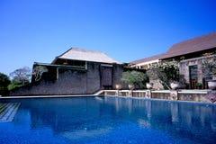 Zwembad in Amanusa royalty-vrije stock fotografie
