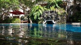 Zwembad in Bali Indonesië Royalty-vrije Stock Afbeelding