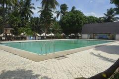 Zwembad bij San Vali, Digos-Stad, Davao del Sur, Filippijnen wordt gevestigd die Royalty-vrije Stock Fotografie