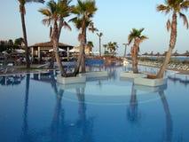 Zwembad binnen een toevlucht Royalty-vrije Stock Afbeeldingen