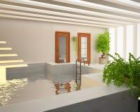 Zwembad binnen Huis Royalty-vrije Stock Foto's
