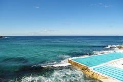 Zwembad in Bondi-Strand Stock Fotografie