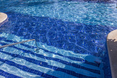 Zwembad in Cancun, Riviera Maya, Mexico Royalty-vrije Stock Foto's