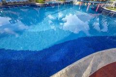 Zwembad in Cancun, Riviera Maya, Mexico Royalty-vrije Stock Fotografie
