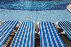 Zwembad in Cancun, Riviera Maya, Mexico Stock Afbeeldingen