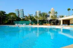 Zwembad in Doha Royalty-vrije Stock Afbeeldingen