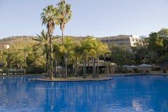 Zwembad en eilandstaaf Royalty-vrije Stock Fotografie