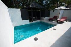 Zwembad en openluchtontwerp Royalty-vrije Stock Foto