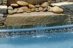 Zwembad Hardscape Stock Fotografie
