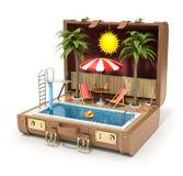 Zwembad in het geval Stock Foto