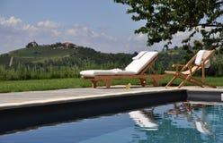 Zwembad in het platteland Royalty-vrije Stock Foto