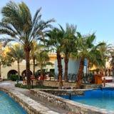 Zwembad in Hurghada royalty-vrije stock afbeeldingen