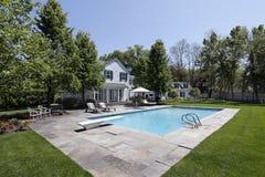 Zwembad met meermening royalty-vrije stock foto's