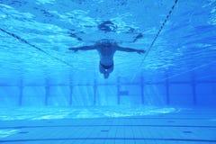 Zwembad onderwater stock fotografie