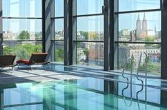 Zwembad op dak II. Royalty-vrije Stock Foto's