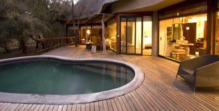 Zwembad op een dek Stock Afbeelding