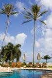 Zwembad op een zonnige dag. Royalty-vrije Stock Foto's
