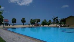 Zwembad op het strand Royalty-vrije Stock Foto