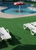 Zwembad. Paddestoel royalty-vrije stock fotografie