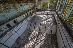 Zwembad in Pripyat Royalty-vrije Stock Afbeelding