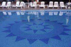 Zwembad in Sardinige Royalty-vrije Stock Afbeeldingen