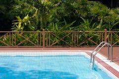 Zwembad in tuin Stock Afbeelding