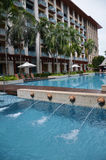 Zwembad van Feestelijk Hotel Sentosa Royalty-vrije Stock Foto