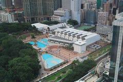 Zwembad van het Kowloonpark, het lucht Royalty-vrije Stock Foto's