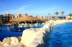 Zwembaden in hotel stock foto
