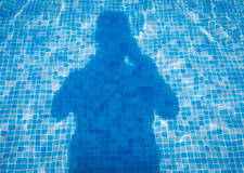 Zwembadschaduw Stock Afbeelding