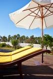 Zwembadterras stock foto